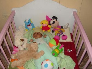 baby in the cot