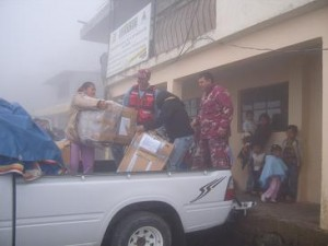 the boxes arrive at Loma Grande